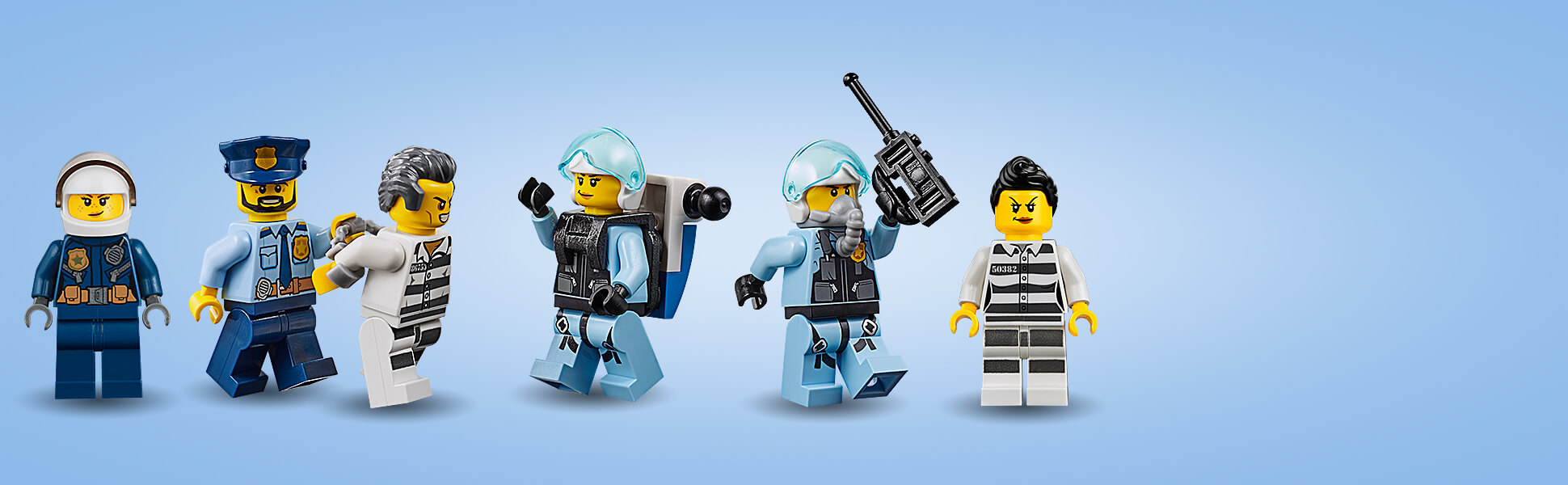 Obsahuje minifigurky 4 policistů a 2 zločinců